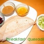 Super Easy Breakfast Quesadilla