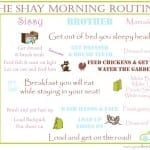 Getting Out The Door: Creating Your Family Routine Chart