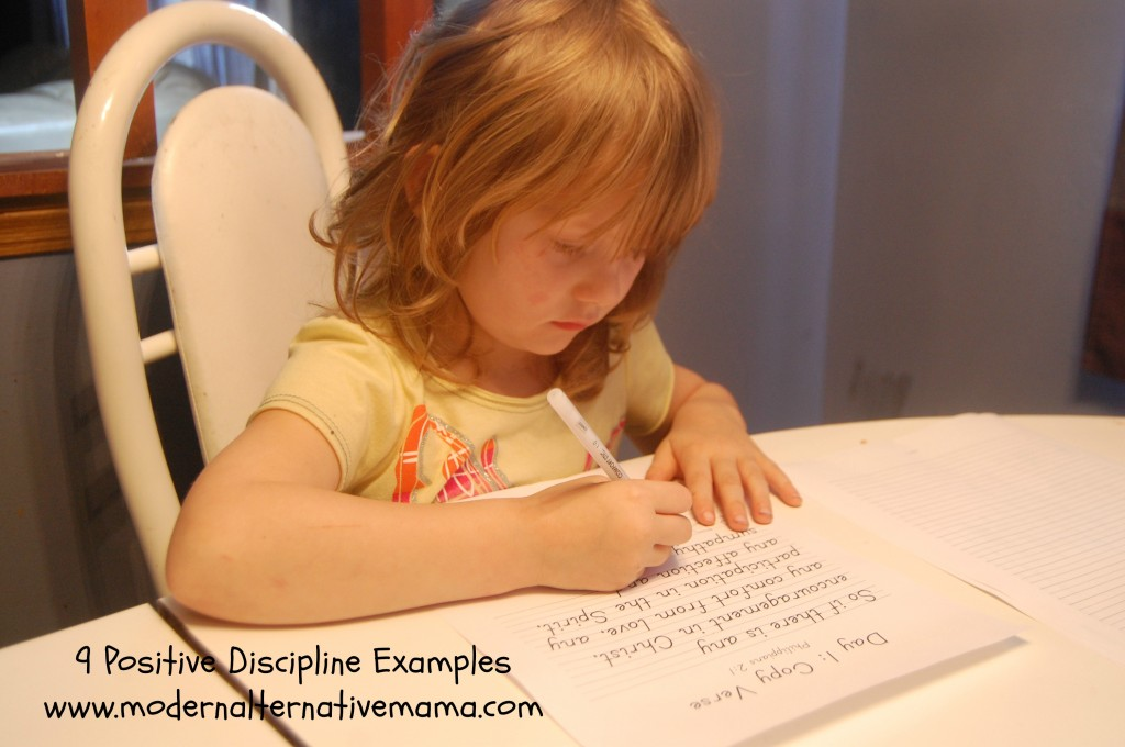 examples of positive discipline