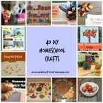 40 DIY Homeschool Crafts